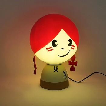Lampada Abat Jour da tavolo Folky Dolls, misura cm. 16,5 x25 a LED