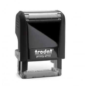 Timbro Trodat Printy 4910 mm. 26X9, completo di gomma personalizzata e cartuccia inchiostro nero
