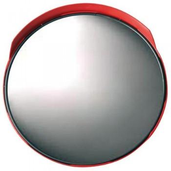 Specchio parabolico diam. 50 cm., infrangibile completo di staffa e bulloni per palo da 60 mm.