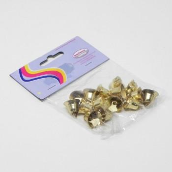 15 Campanelle oro decorative h 15 mm in busta