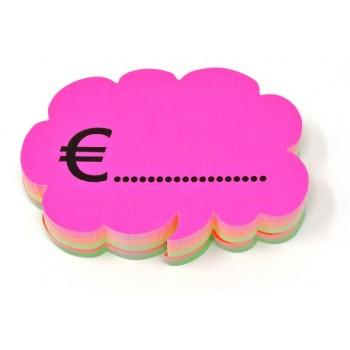 Nuvoletta + Euro - 50 Segnaprezzi - Fluo Assortiti