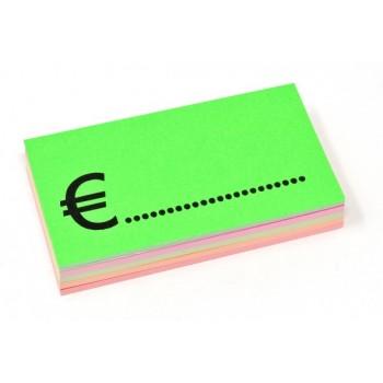 Rettangolo + Euro - 50 Segnaprezzi - Fluo Assortiti