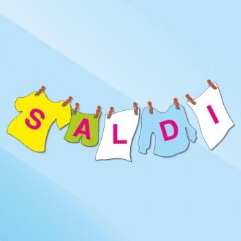 Saldi 'stesi' - Vetrofania in kit - 160x45 ca.