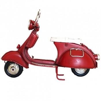 Scooter in metallo rosso, misura cm. 17,5x7x11,5