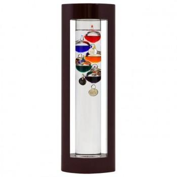 Termometro in legno e vetro per ambiente, cm. 30 in altezza con 5 sfere