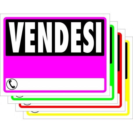Cartello Vendesi in PVC fluo cm. 40X30