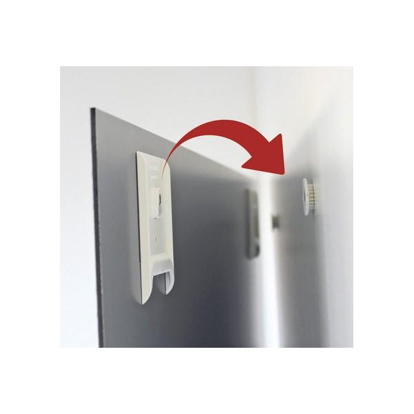 Sistema invisibile di fissaggio senza cornici - box 10 pz.