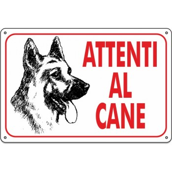 "Cartello Pvc ""Attenti Al Cane"" - 20x30 - 1 Cartello"