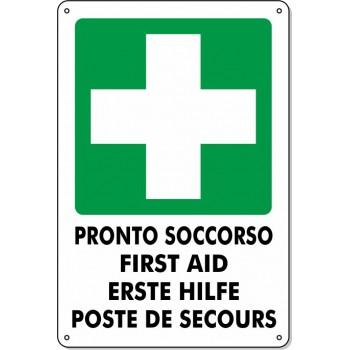 """Cartello Pvc """"Pronto Soccorso"""" - 20x30 - 1 Cartello"""