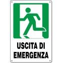 """Cartello Pvc """"Uscita Di Emergenza Sx"""" - 20x30 - 1 Cartello"""