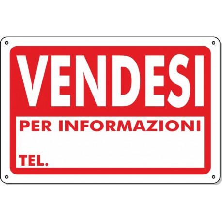 """Cartello Pvc """"Vendesi"""" - 20x30 - 1 Cartello"""