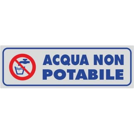 Acqua non potabile - 1 Etichetta