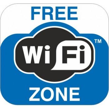 Adesivo Free Wi-fi Zone - 1 Etichetta