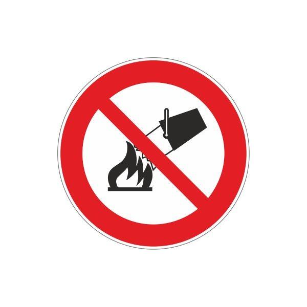 Adesivo Non spegnere con acqua - 1 Etichetta
