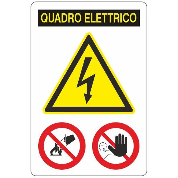 Adesivo quadro elettrico Cm 10X15 - 1 Adesivo