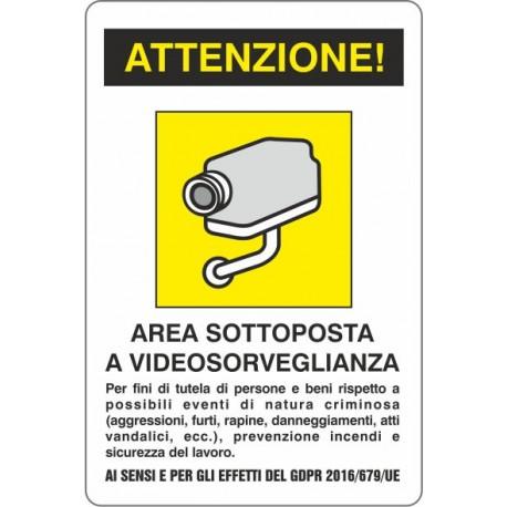 Adesivo Videosorveglianza 10x15 - 1 Adesivo