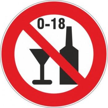 Adesivo Vietato alcol ai minori - 1 Etichetta