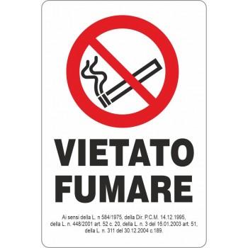 Adesivo Vietato Fumare 15x22 - 1 Adesivo