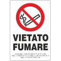 Adesivo Vietato fumare con legge 10X15 - 1 Adesivo