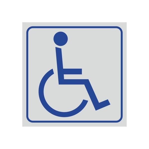 Handicap Adesivo Argento - 1 Etichetta