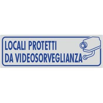 Locali Protetti Da Videosorveglianza Argento - 1 Etichetta