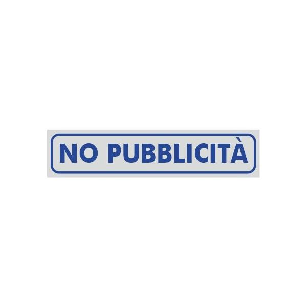 No Pubblicità 9X1,5 Adesivo Argento - 1 Etichetta