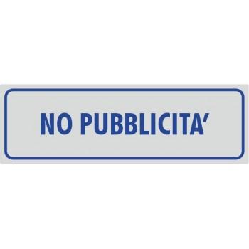 No Pubblicità Argento - 1 Etichetta