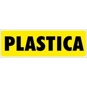 Plastica - Adesivo Rifiuti Differenziata - 1 Etichetta