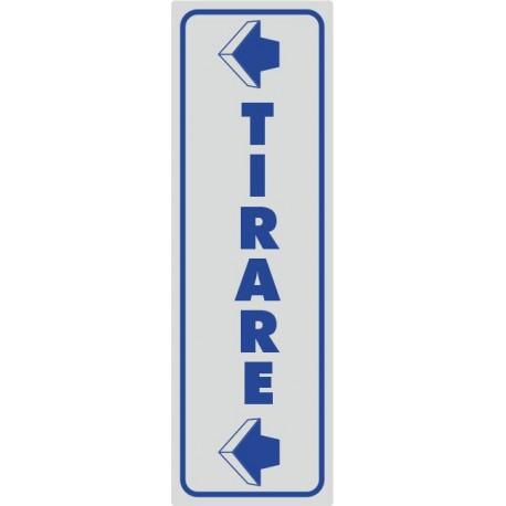 Tirare Con Freccia Adesivo Argento - 1 Etichetta
