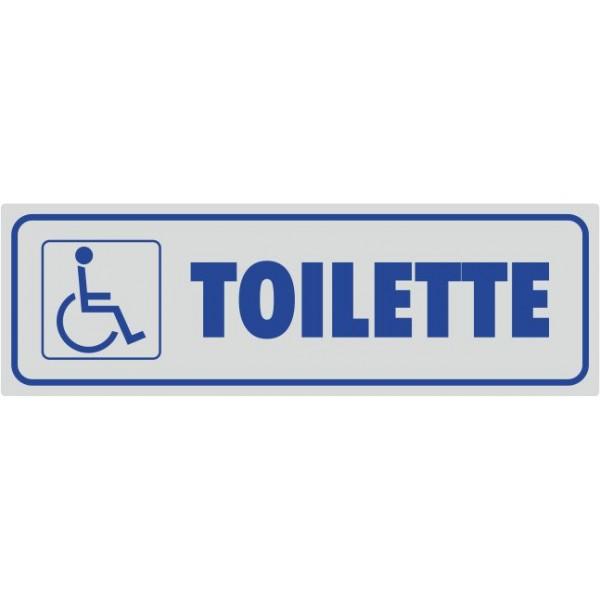 Toilette Con Simbolo Disabili Adesivo Argento - 1 Etichetta