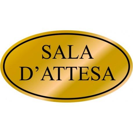 Etichetta resinata Sala D'Attesa