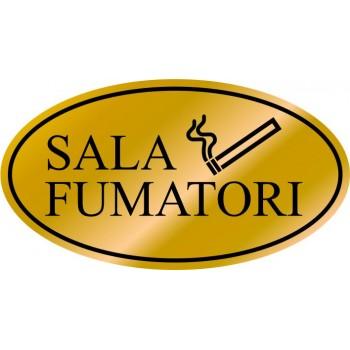 Etichetta resinata Sala Fumatori