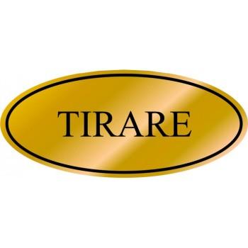 Etichetta resinata Tirare