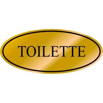 Etichetta resinata Toilette