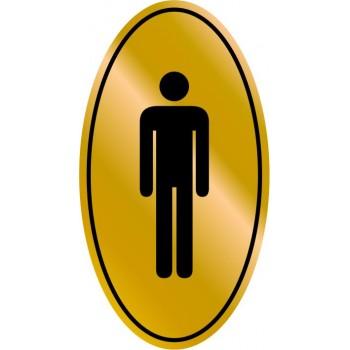 Etichetta resinata Toilette Uomo (Simbolo)