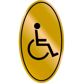 Etichetta resinata Tolette Disabili