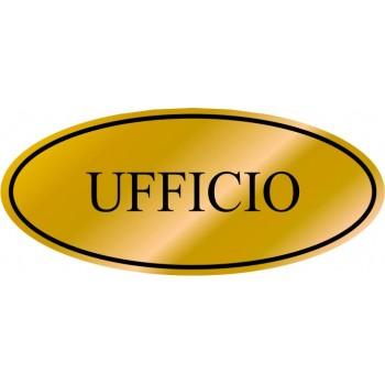 Etichetta resinata Ufficio
