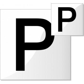 Coppia lettera p per guida - 1 set
