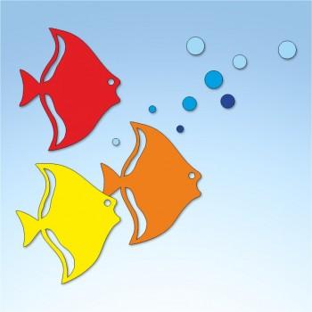 Vetrofania estate pesci, misura circa cm. 70x70