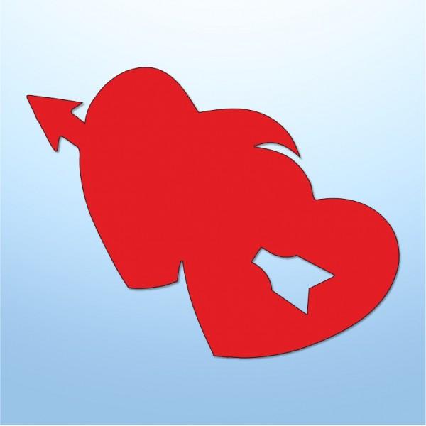 Mini adesivi cuore s. valentino - 5 pezzi
