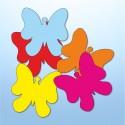 Mini adesivi farfalle - 5 pezzi