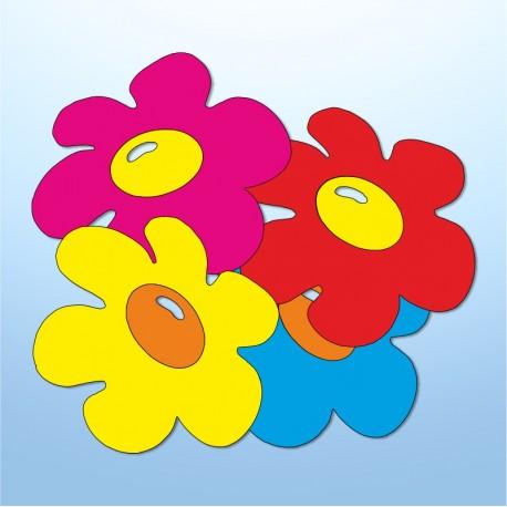 Mini adesivi fiori - 4 pezzi