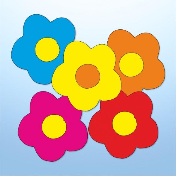 Mini adesivi fiori - 5 pezzi