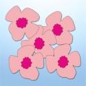Mini adesivi fiori di pesco - 5 pezzi