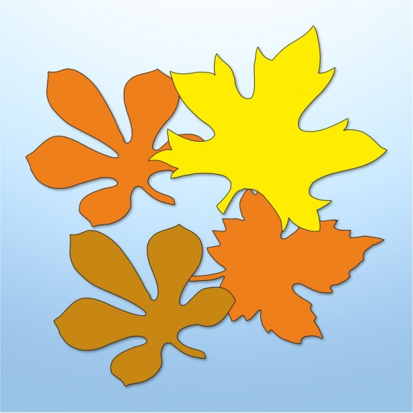 Mini adesivi foglie autunnali - 4 pezzi