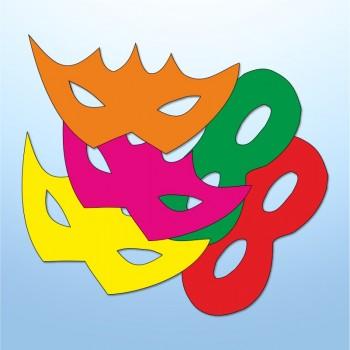 Mini adesivi maschere - 5 pezzi