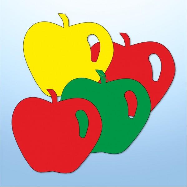 Mini adesivi mele - 4 pezzi