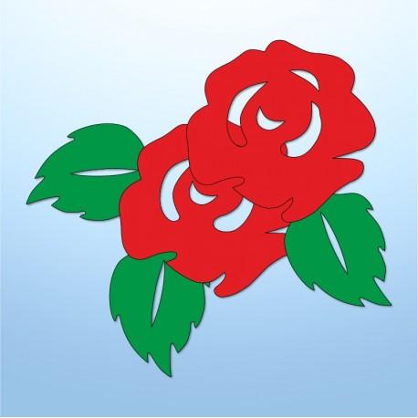 Mini adesivi rose - 5 pezzi