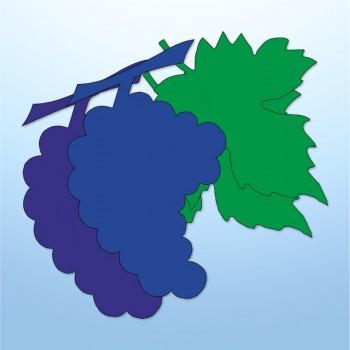 Mini adesivi uva - 4 pezzi