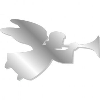 Angelo con tromba argento - 5 angeli